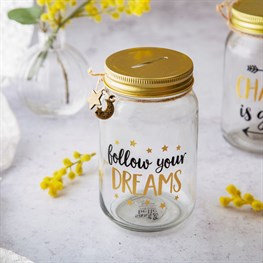 Sass & Belle Glass Money Jar