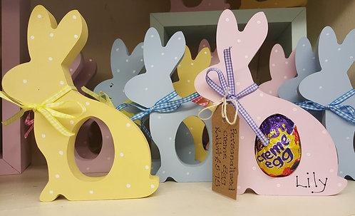 Personalised Wooden Cadbury Creme Egg Bunny