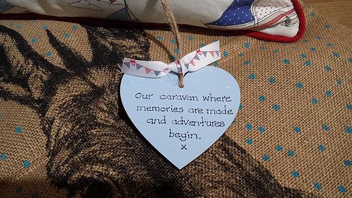 Our Caravan Wooden Heart