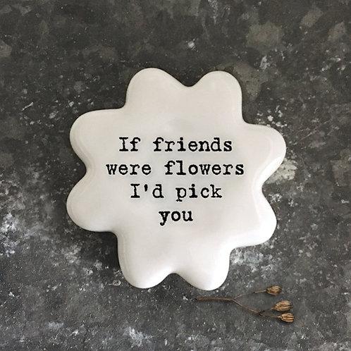 East of India Porcelain flower tokens