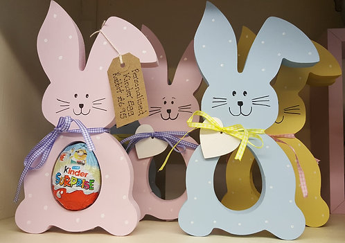 Personalised Wooden Easter Kinder Egg Bunny