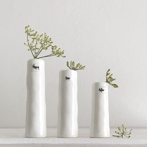 East of India Trio of vases - Happy