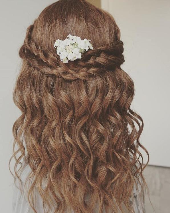 Popular braid with beach waves style