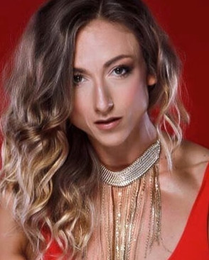 Glam makeup with glam volume curls