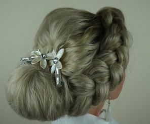 Very popular bridal braid upstyle