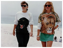 My friends with Panther and Lion sweats.