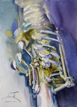 """tenor saxophone""/50x70cm"
