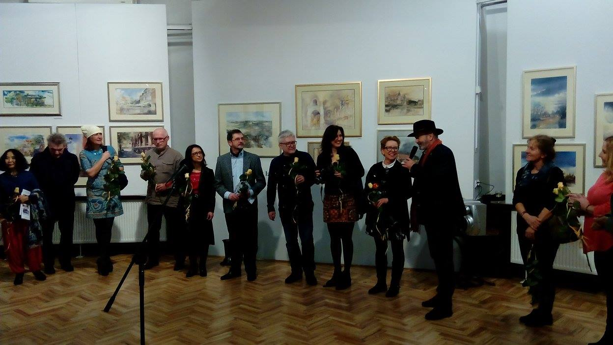 members of Polish Watercolor Society