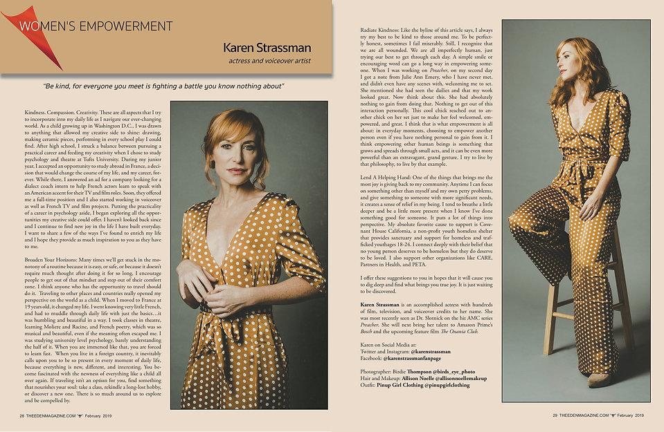 Karen Strassman Eden Magazine Feature .j