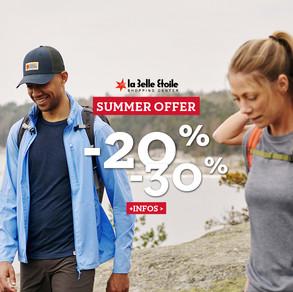 Summer Offer -20% -30%