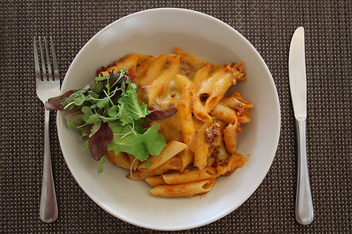 CHEESY BEEF & PENNE PASTA PAKE - R65/400G