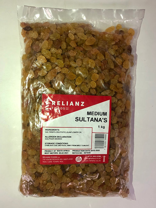 Dried fruit - Sultanas (golden)