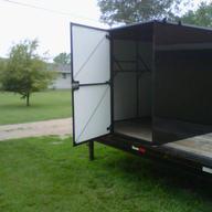 Custom walk-in trailer tool box