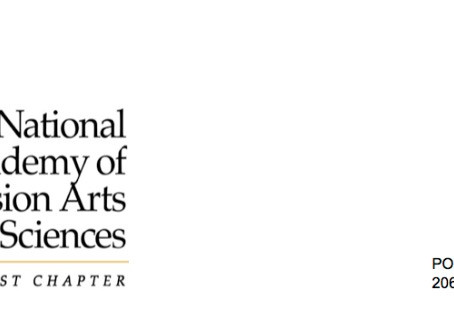 LETTER FROM THE NATIONAL ACADEMY OF TELEVISION ARTS & SCIENCES