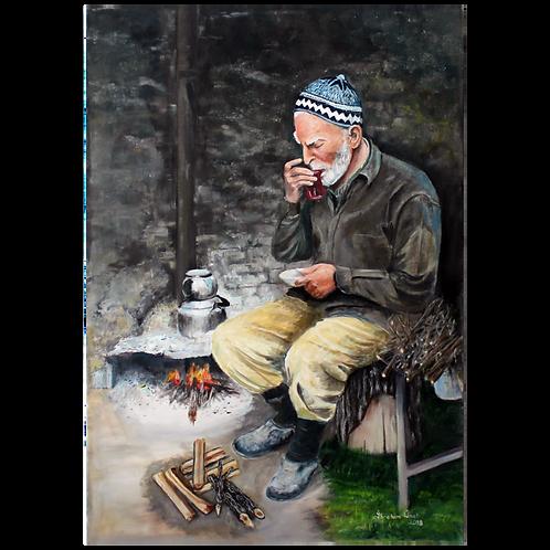 Çay İçen Adam