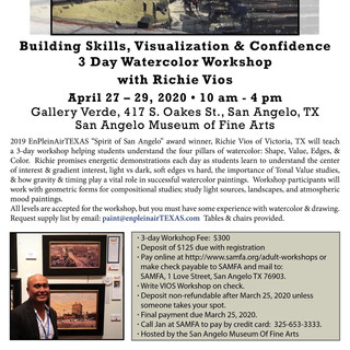 SAMFA Watercolor Workshop