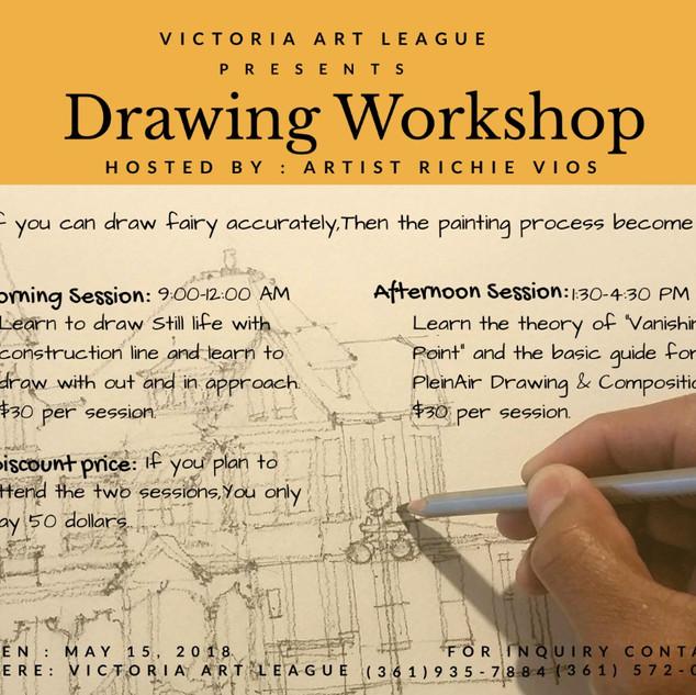 Drawing workshop Poster
