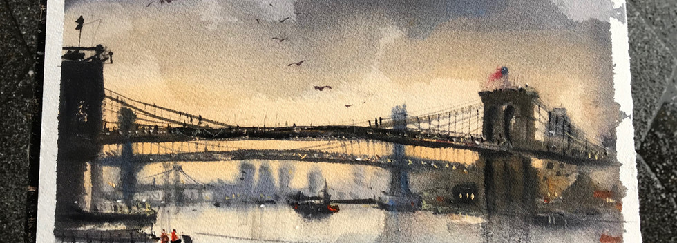 Rainy day @ Brooklyn Bridge