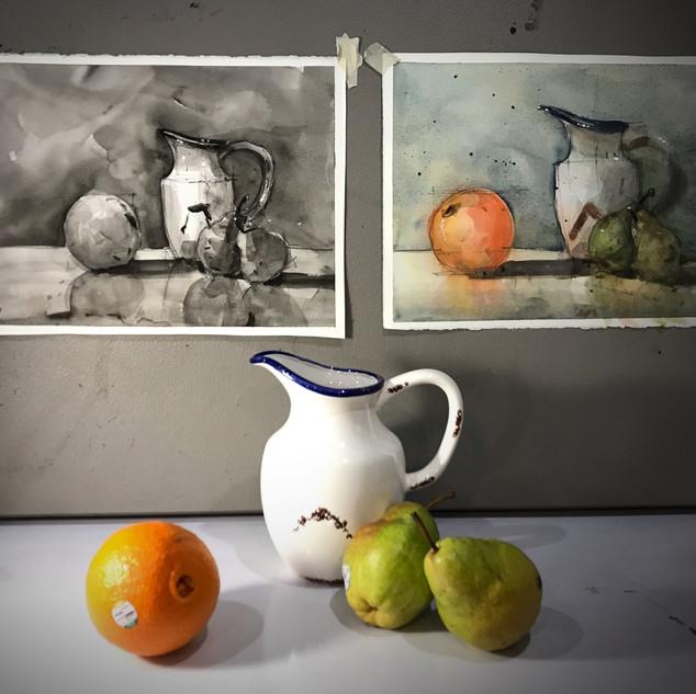 fruits still life class subject.jpeg