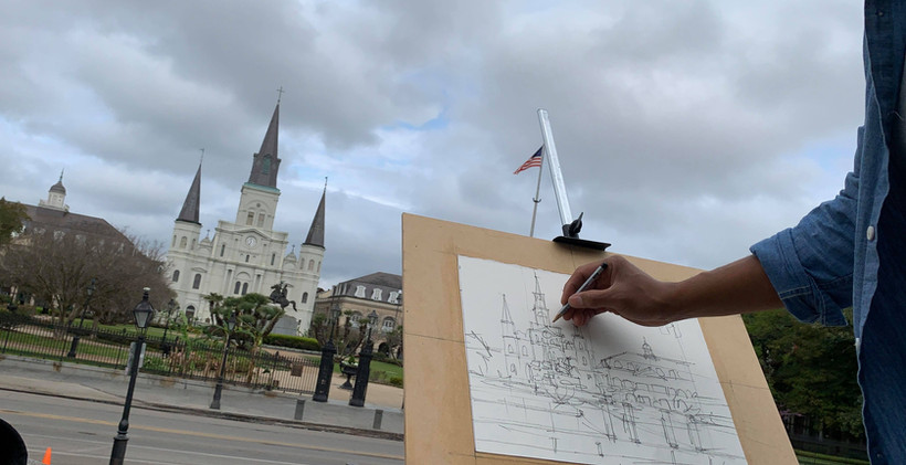 St. Patrick Cathedral drawing line.jpg