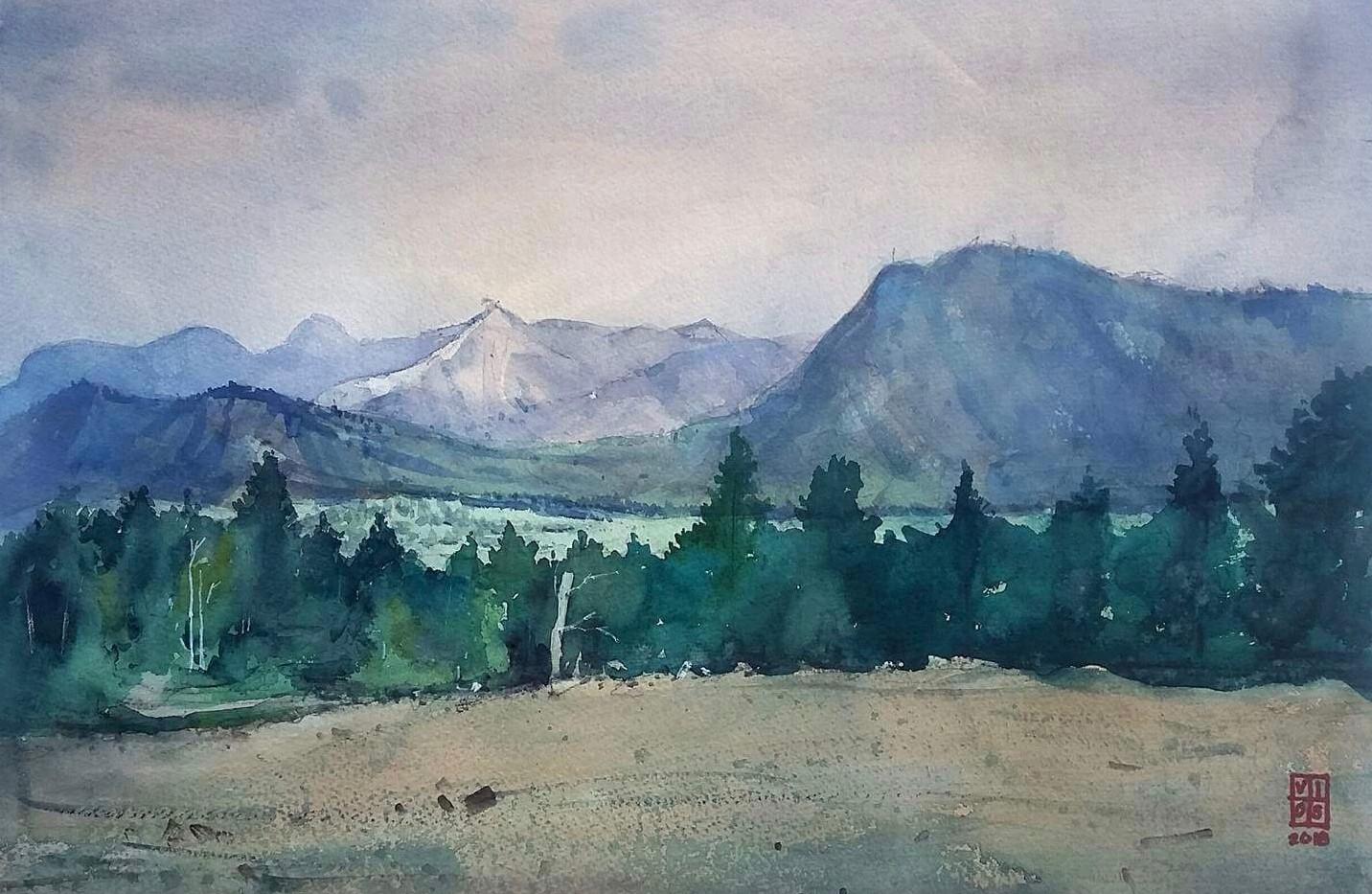 Montana Mountain Ridge