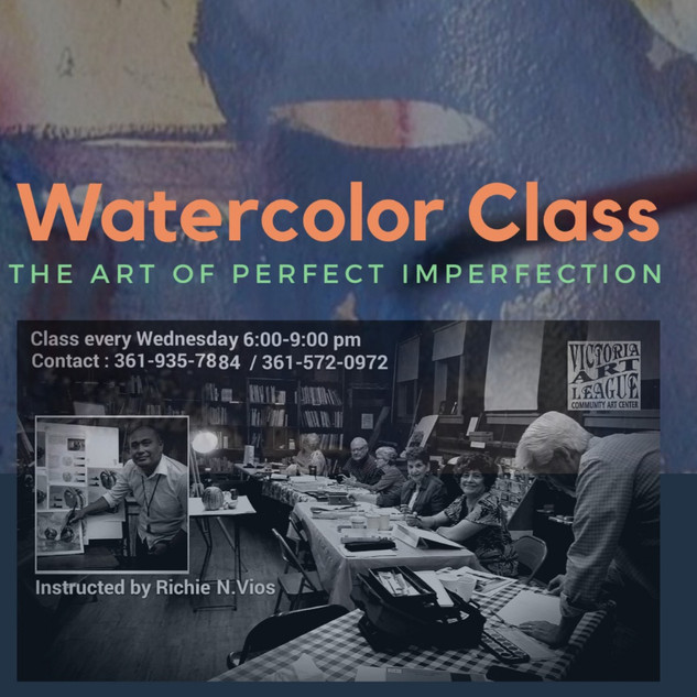 Watercolor class poster