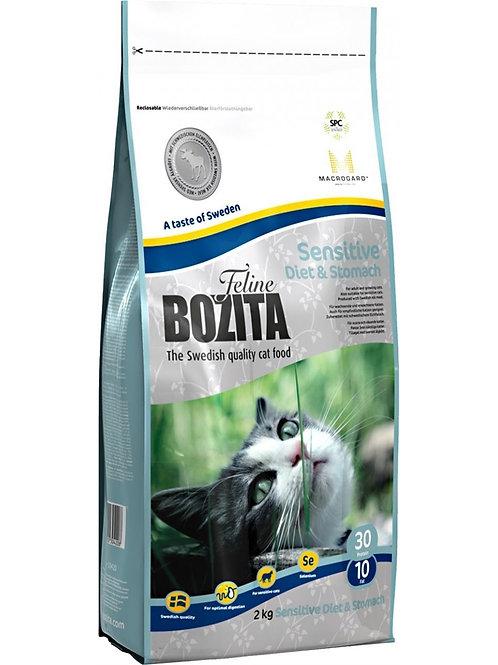 Bozita Sensitive Diet & Stomach корм для кошек чувствительное пищеварение 2 кг.