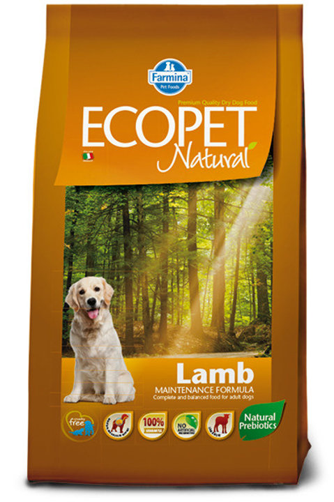 Фармина Экопет корм для мелких собак ягнёнок 12 кг.