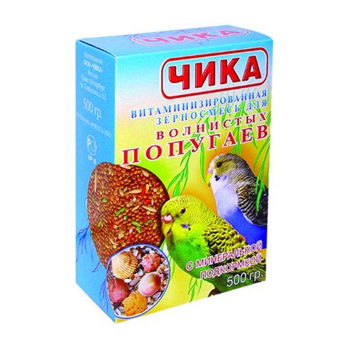 Чика корм для волнистых попугаев с минералами 500 гр.