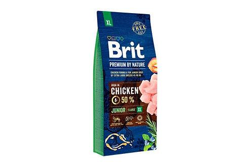 BRIT Premium Junior корм для щенков крупных пород 15 кг.