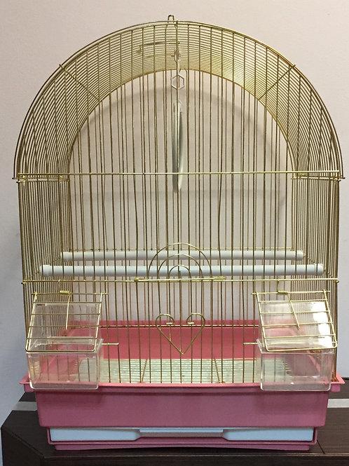 Клетка для птиц. Размер: 34,5*28*46 см.