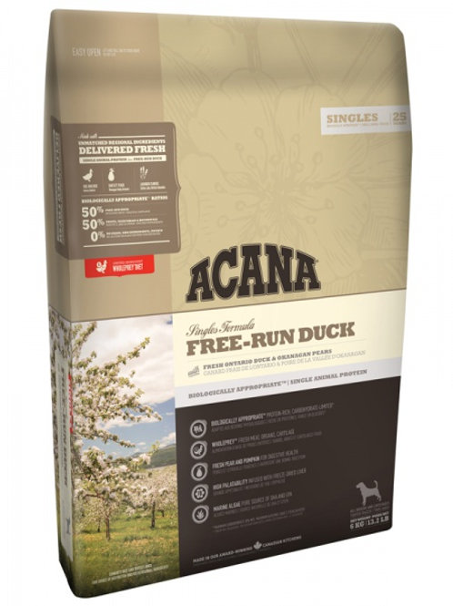 Acana корм для собак утка,овощи 2 кг.