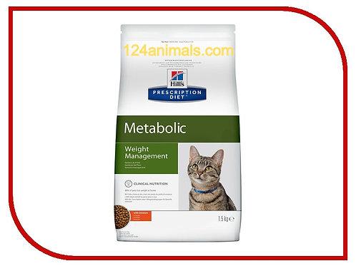 Hills Metabolic (Хилс Метаболик) диетический рацион для кошек с курицей 1,5 кг.