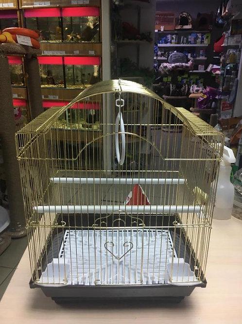 Клетка для птиц под золото.Новая 34*28*42 см.