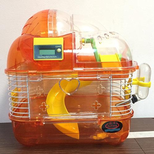 Клетка для хомяков с тренировочным шаром 2 этажа