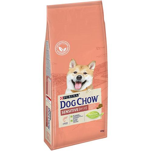 Дог Чау Сенситив корм для собак чувствительное пищеварение 14 кг.