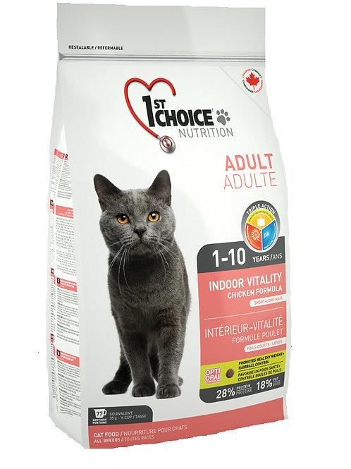 1stChoice VITALITY INDOOR корм для кошек 2,72 кг.