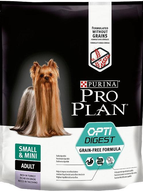 ПроПлан корм для собак мелких пород беззерновой индейка 700 гр.
