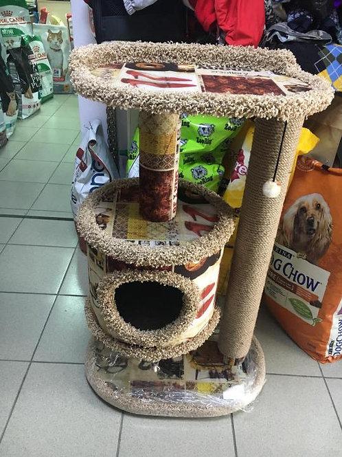 Дом когтеточка для кошек 55*40*90 см.