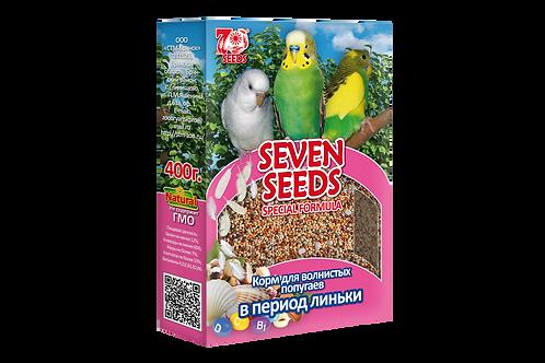 Семь Семян корм для волнистых попугаев в период линьки 400 гр.