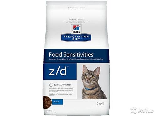 Хилс Z/D для кошек от остр. пищевых аллергий 2 кг.