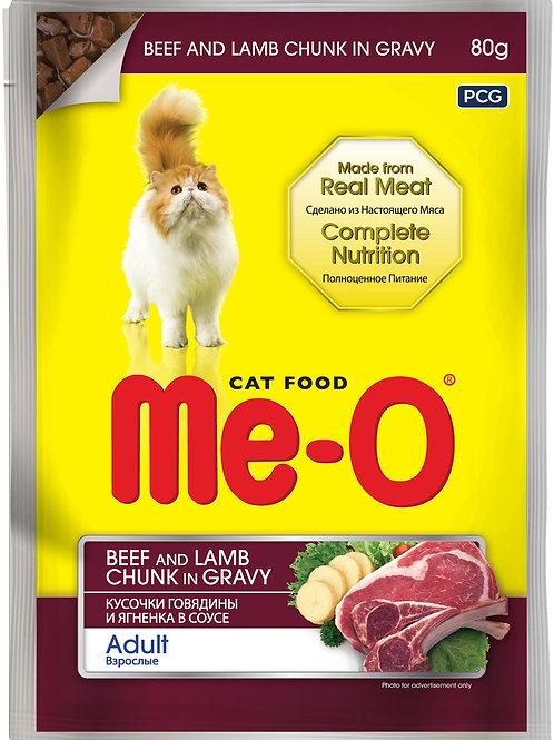 Me-o корм влажный для кошек 80 гр.
