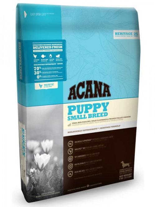Acana корм для щенков мелких пород цыпленок, камбала 340 гр.