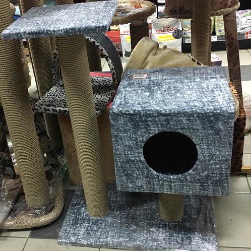 Домик-когтеточка для кошек 35*30*85 см.
