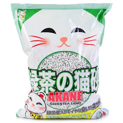 Akane наполнитель комкующийся на бум.основе с зеленым чаем 7л.