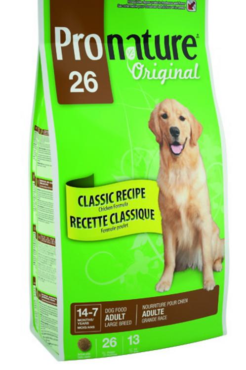 Pronature 26 (Пронатюр 26) корм для собак крупных пород 15 кг.
