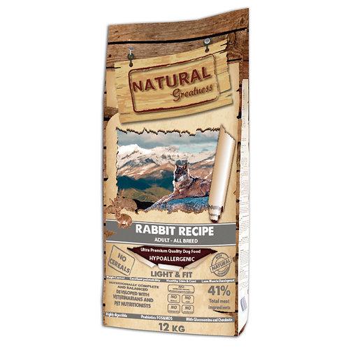 Natural Greatness сухой корм для собак  с кроликом 12 кг.