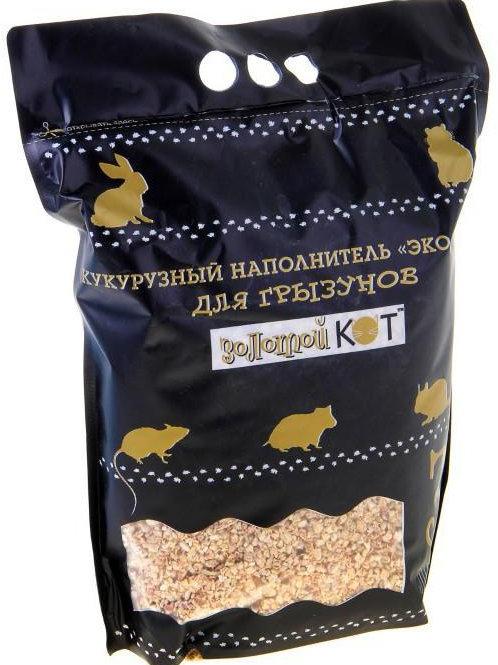 Золотой кот, кукурузный наполнитель 6л.