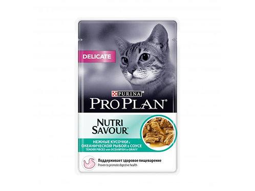 Про План корм для кошек деликатное пищеварение в соусе 85 гр.