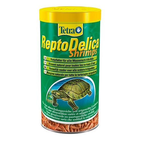 Tetra ReptoDelica корм для водных черепах креветки 250 мл.